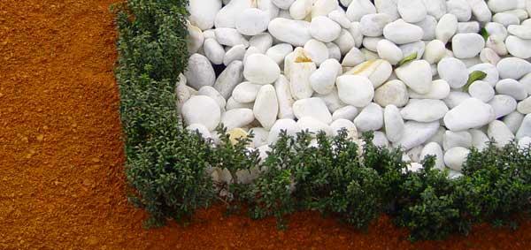 Áridos y piedras decorativas naturales
