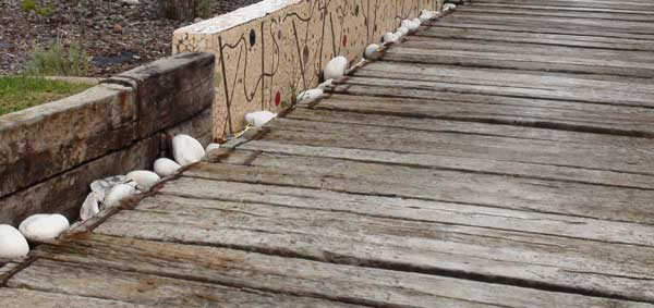 Traviesas de madera nueva o recuperada